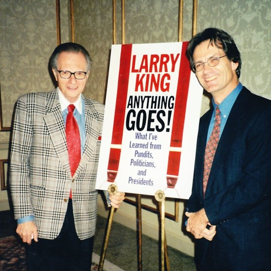 Pat with his long-time broadcasting colleague, Larry King.