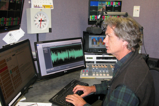 At the controls of NBC Radio News -- Pat writes and produces NBC Radio hourly newscasts today from studios in Washington, DC.