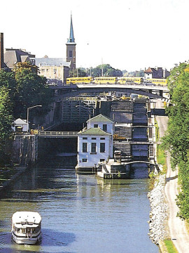 The locks at Lockport, New York, how they look today.